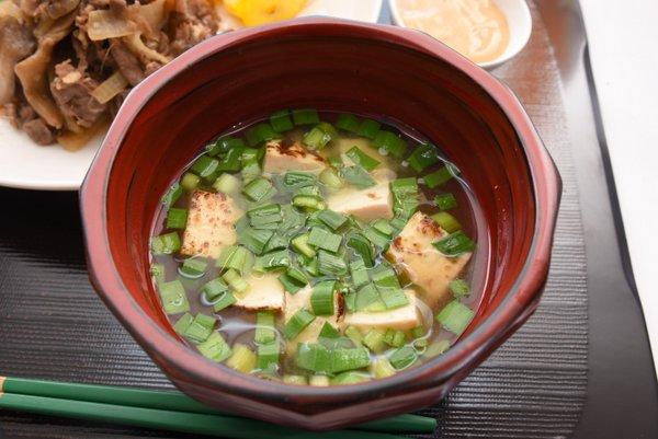 ニラと焼き豆腐のお味噌