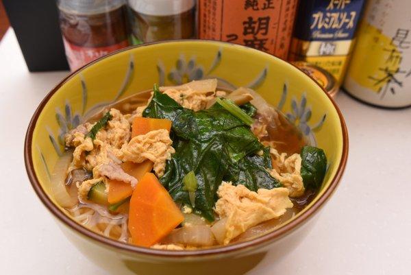 野菜たっぷり煮込み素麺