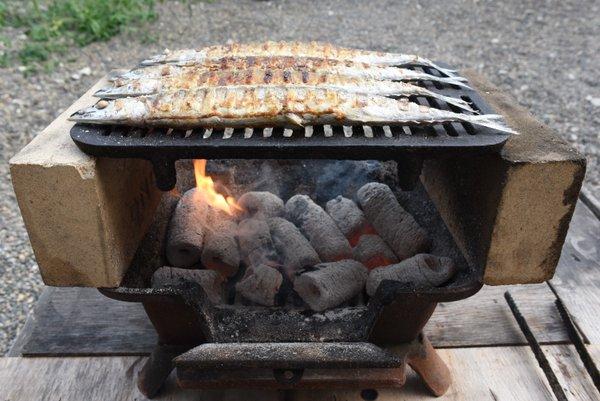 サンマ炭火焼き
