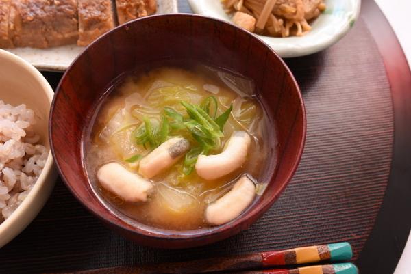 加賀麩いりお味噌汁