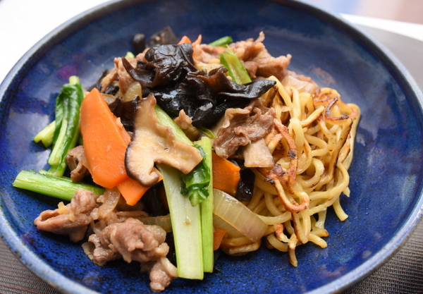 醤油味野菜炒めラーメン