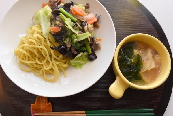 味噌味野菜炒めラーメン