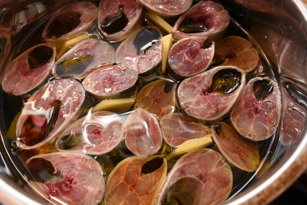 イワシのオリーブオリル煮