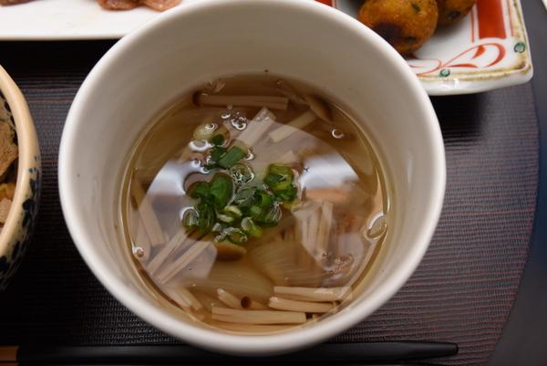 エノキと新タマネギのスープ
