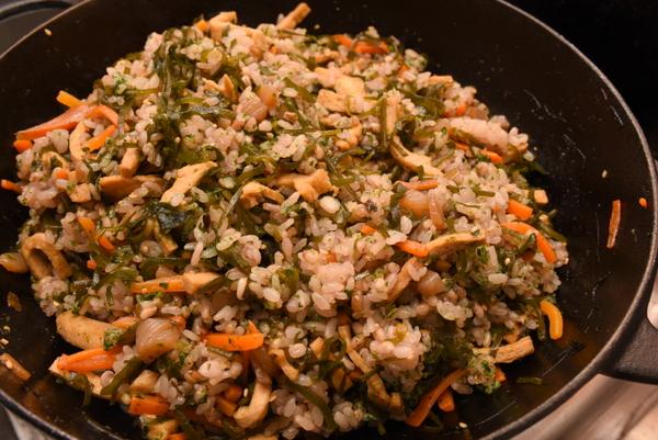 昆布炒めの混ぜご飯