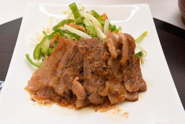 味噌風味牛肉のしょうが焼き